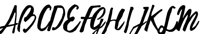 Freehand Script Random Font UPPERCASE