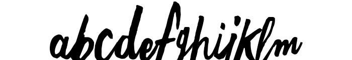 Freehand Script Random Font LOWERCASE