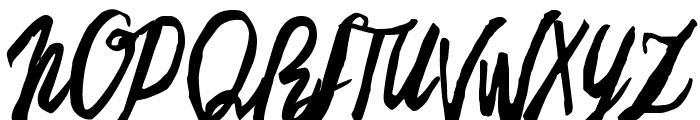 Freehand Script Regular Font UPPERCASE