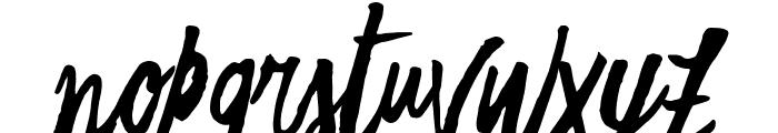 Freehand Script Regular Font LOWERCASE