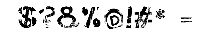 FreekTure Font OTHER CHARS