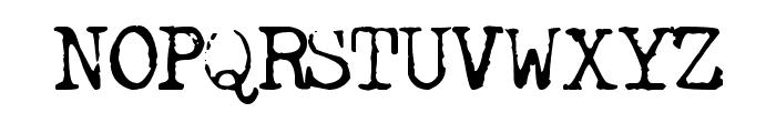 FreekyTypewriter Font UPPERCASE