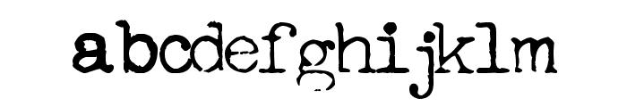 FreekyTypewriter Font LOWERCASE