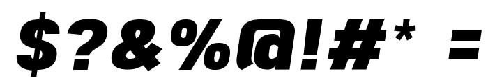 Freeroad Black Italic Font OTHER CHARS