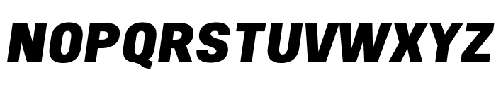 Freeroad Black Italic Font UPPERCASE