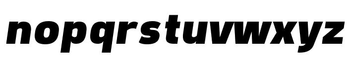 Freeroad Black Italic Font LOWERCASE