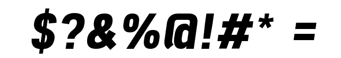 Freeroad Bold Italic Font OTHER CHARS
