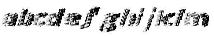 Frequency Font LOWERCASE