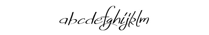FreshlyThinking Font LOWERCASE