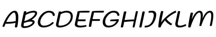Friday October Twelve Italic Font UPPERCASE
