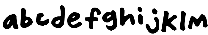 Friendly Felt Tips Font LOWERCASE