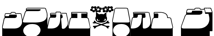 Frigate Katakana - 3D Font OTHER CHARS