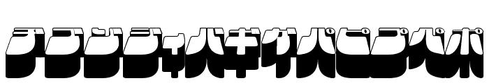 Frigate Katakana - 3D Font UPPERCASE
