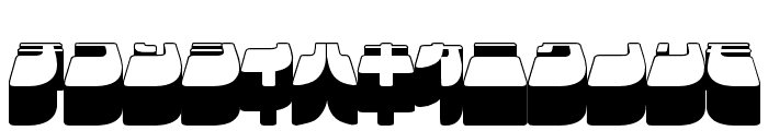 Frigate Katakana - 3D Font LOWERCASE