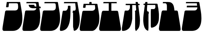 Frigate Katakana - Light Font OTHER CHARS