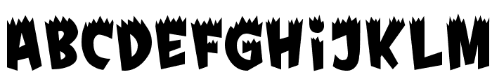 Fright Font UPPERCASE