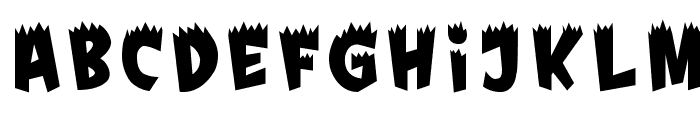Fright Font LOWERCASE