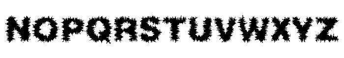 Frizzed BRK Font UPPERCASE
