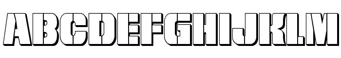 From BOND With Love 3D Font LOWERCASE