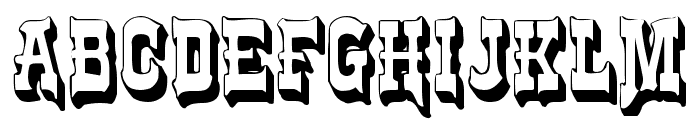 Frontier Font UPPERCASE