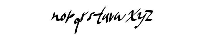 FrostyWinter Font LOWERCASE