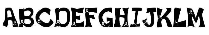 Frowny Font Font UPPERCASE