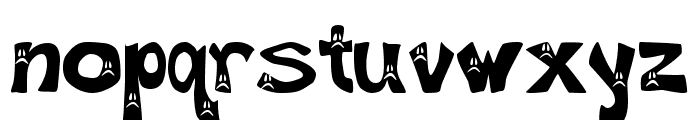 Frowny Font Font LOWERCASE