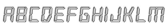 Frozen Crystal Engraved Font LOWERCASE