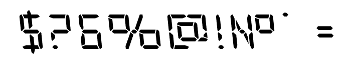 Frozen Crystal Leftalic Font OTHER CHARS