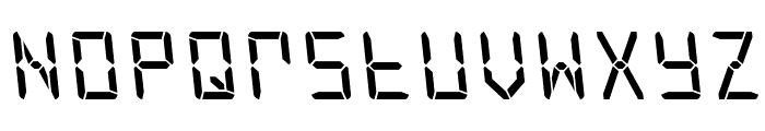 Frozen Crystal Leftalic Font UPPERCASE