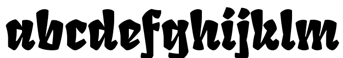 Fruktur Regular Font LOWERCASE