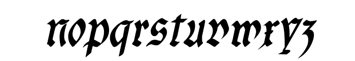 fracta Condensed Bold Italic Font LOWERCASE