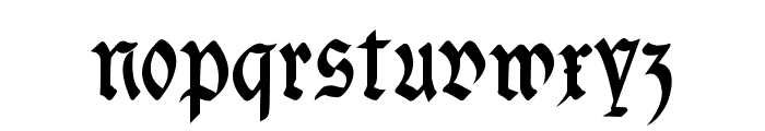 fracta Condensed Bold Font LOWERCASE