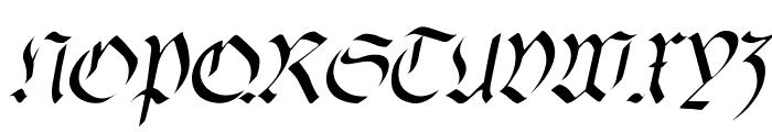 fracta Italic Font UPPERCASE