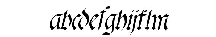 fracta Italic Font LOWERCASE
