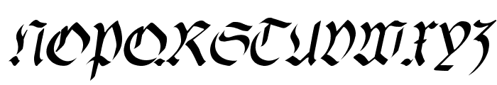 fracta SemiBold Italic Font UPPERCASE