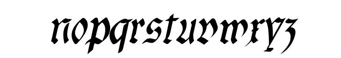 fracta SemiBold Italic Font LOWERCASE