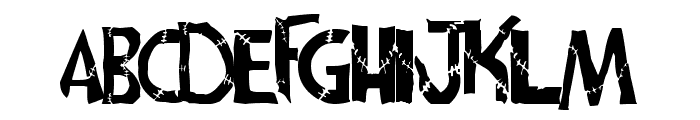 frankenwiniefont Font UPPERCASE