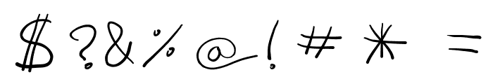 fredo manuscrite Font OTHER CHARS