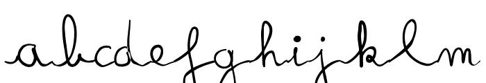 fredo manuscrite Font LOWERCASE