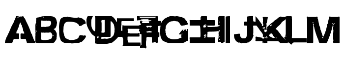 freestyler ancient f6[modified] Font UPPERCASE