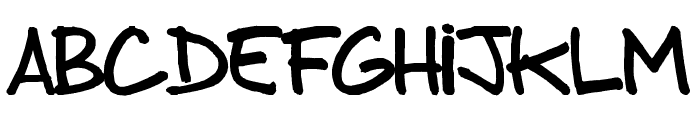 from brush to caps Font LOWERCASE