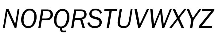 FranklinGothic-BookItalic Font UPPERCASE