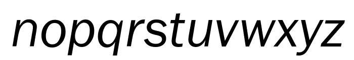 FranklinGothic-BookItalic Font LOWERCASE