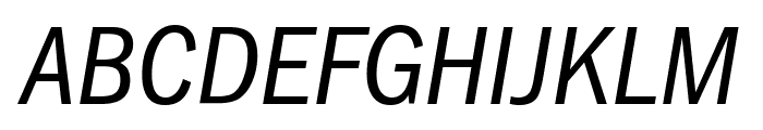 FranklinGothic-Cd-Osf-BookItalic Font UPPERCASE