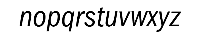 FranklinGothic-Cd-Osf-BookItalic Font LOWERCASE