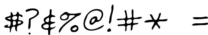 Fredric Regular Font OTHER CHARS