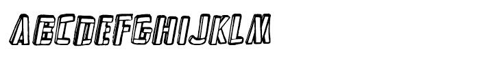 Frankenstein Clean Oblique Font UPPERCASE