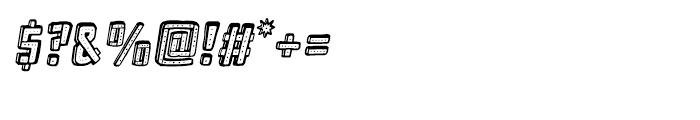 Frankenstein Oblique Font OTHER CHARS