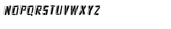 Frankenstein Stencil Oblique Font UPPERCASE